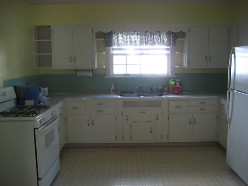 Newly painted kitchen