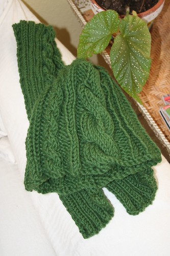 hat and scarf ready for auction