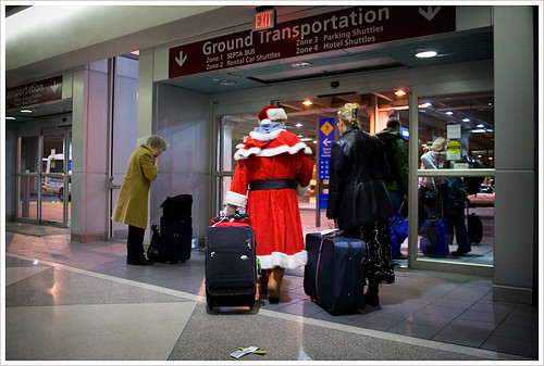 Santa in Philly on Christmas Eve