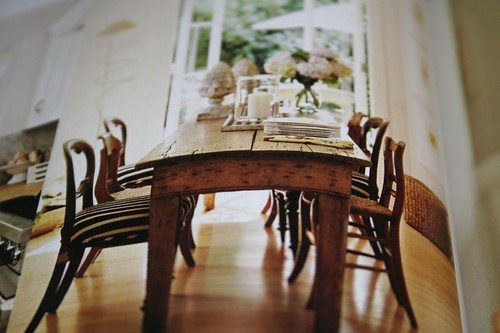 dreamy kitchen table and setting
