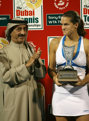 Mauresmo's runner-up trophy
