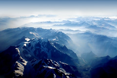 Swiss Alps from the Sky