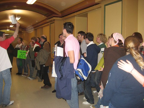 Protesting the Democrats being in Caucus