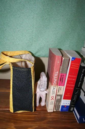 Nancy Drew Book Purse, side view