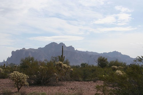 beautiful superstition mountains
