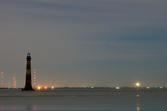 Moonlit Morris Island Lighthouse 2