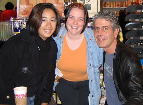 Courtney, Michelle & Tony Bourdain