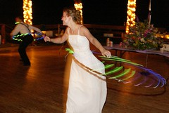 hooping at the wedding