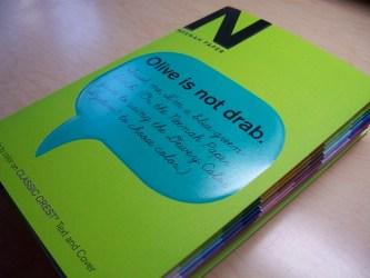 Neenah Paper's Dewey Color Book