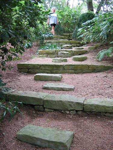 Escaleras estilo rustico lanchas de piedra