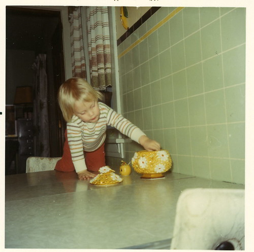 Me stealing cookies from grandma's jar, 1970