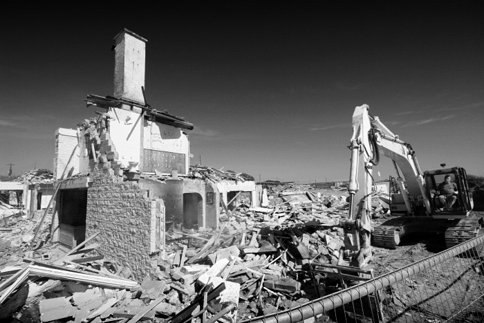 The Atlantic Manor Hotel Demolished