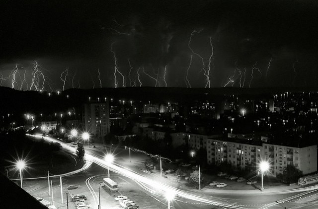 lightnings in Baciu's forest