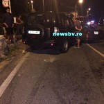 EXCLUSIV FOTO Un soldat american beat, la volanul unui jeep, a provocat un accident pe drumul de Poiana Brașov