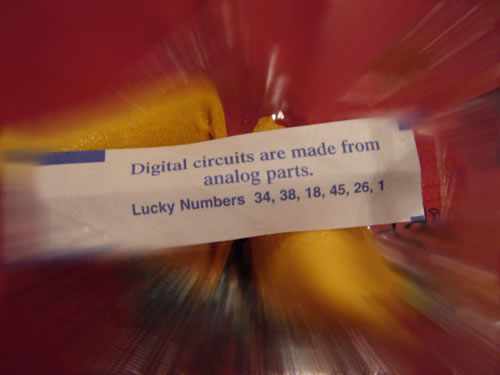 "The ""digital/analog"" fortune cookie"