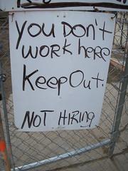 No trabajas aquí