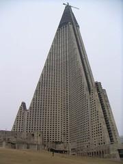 Ryugyong Hotel in Pyongyang