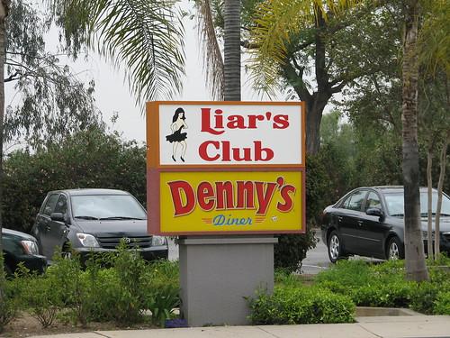 Irwindale Liar's Club/Denny's sign