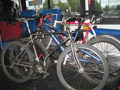 Five bikes on the bus / Highway 17 Express San Jose to Santa Cruz