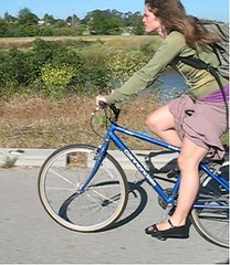 Cyclist in Santa Cruz California