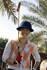 hingis playing polo in dubai