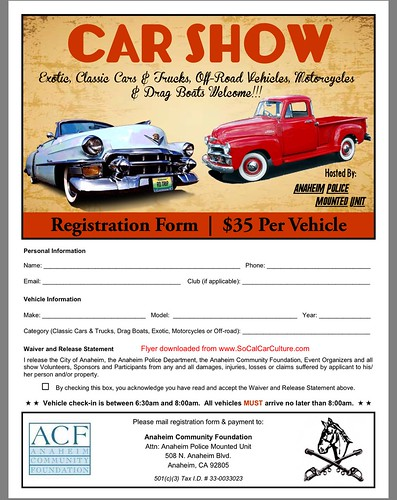"""ANAHIEM CA USA - """"POLICE OFFICE ANAHIEM POLICE CAR SHOW"""" Sunday August 30 - 9am to 3pm - Live Music, Safety Demo, Face Painting, Food Truck - credit: www.SoCalCarCulture.com • <a style=""""font-size:0.8em;"""" href=""""http://www.flickr.com/photos/134158884@N03/20942330076/"""" target=""""_blank"""">View on Flickr</a>"""