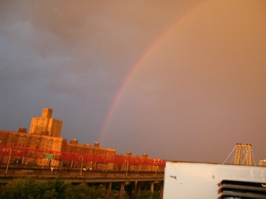 Rainbow over Williamsburg Bridge