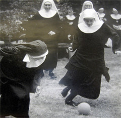 Nuns playing football