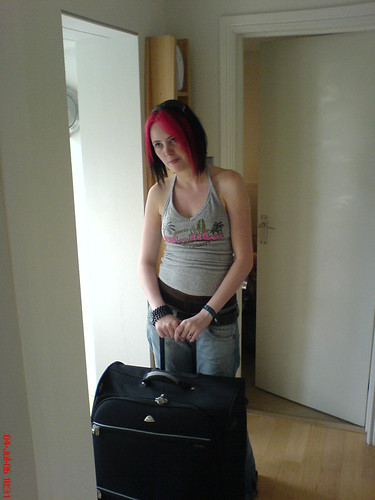 Lianne Readying for Her Travels