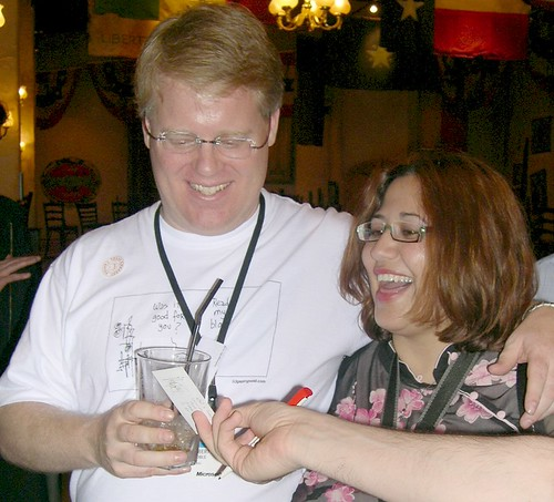 Robert scoble at London's Geek Dinner