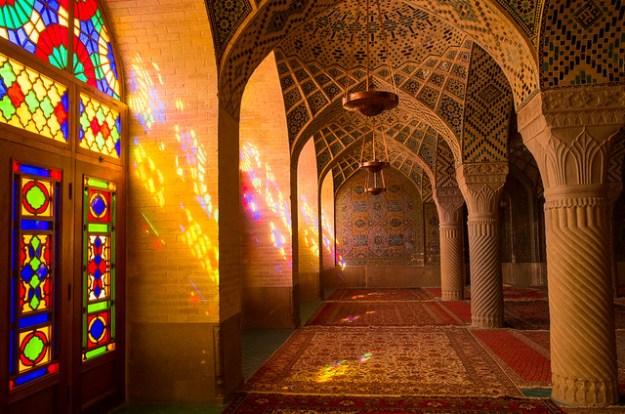 Nasir-ol-Molk (Pink) Mosque, Shiraz.