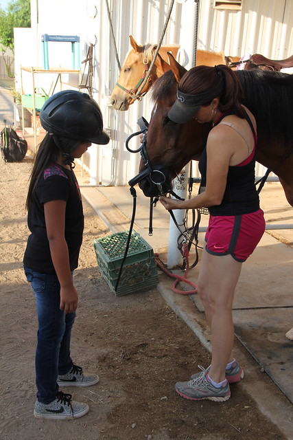 A morning lesson at Kerivan Farms