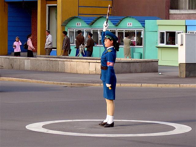 Pyongyang traffic signal