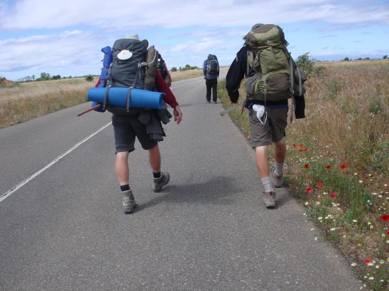 The Camino de Santiago in Spain.