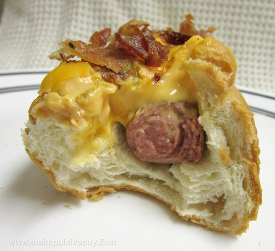 Sonic Bacon Double Cheddar Croissant Dog Innards