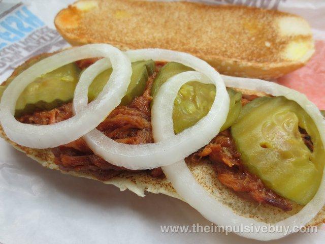 Burger King Extra Long Pulled Pork Sandwich 2
