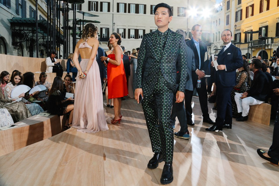 Bryanboy at the Valentino Haute Couture fashion show in Rome.
