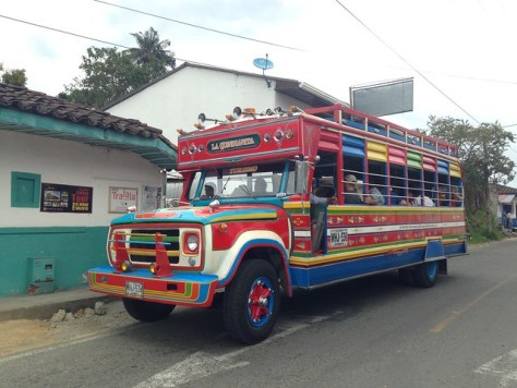 Chiva bus in Colombia