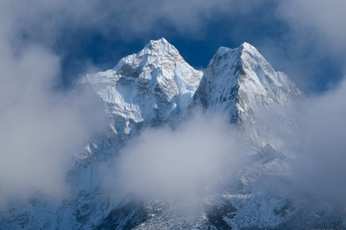 Ama Dablam in the clouds
