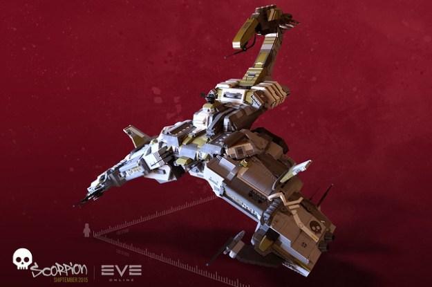 EVE online's custom Scorpion battleship | SHIPtember 2015