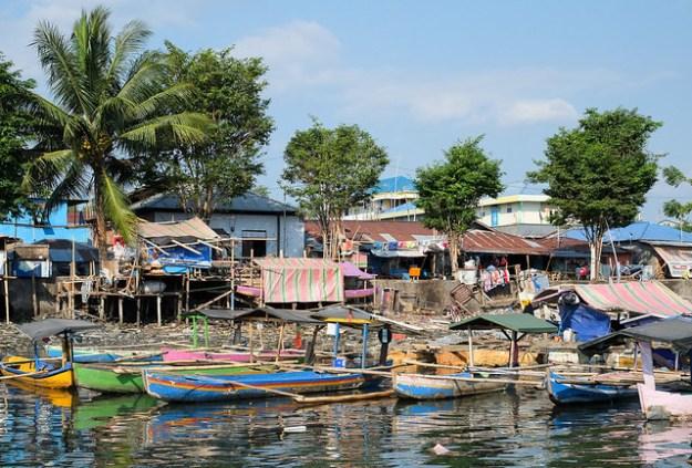 Exotic harbor. Manado