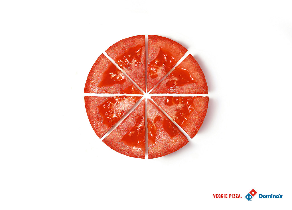 Domino's Veggie Pizza - Tomato