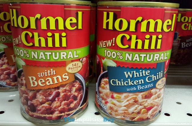 Hormel 100% Natural Chili (with Beans and White Chicken Chili)