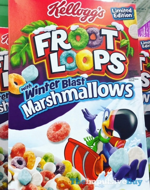 Kellogg's Limited Edition Froot Loops with Winter Blast Marshmallows