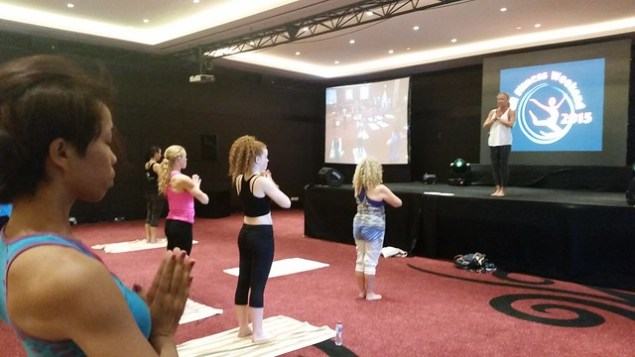 Yoga at Bali Fitness Weekend 2015