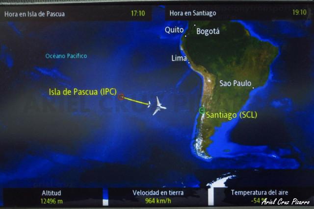 Vuelo LAN842 Isla de Pascua a Santiago