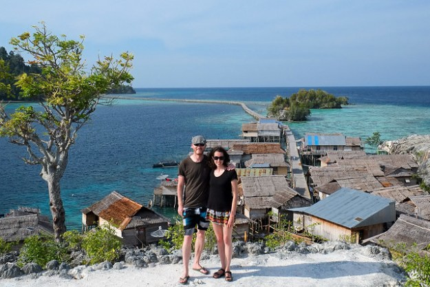 Happy to be here. Pulau Papan, Togean Islands, Indonesia