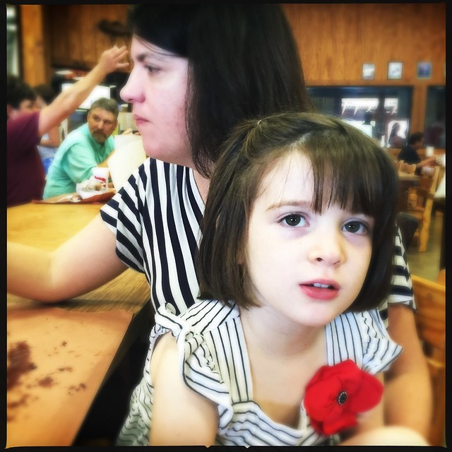 Zoey at Kreuz Market Texas BBQ