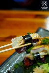 Sydney Food Blog Review of Tamagta Ya, Neutral Bay: Grilled Engawa and Grilled Salmon Nigiri, $12.80