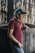 One of the Mezcal Distillery´s workers enjoying the fruits of his labour with us.